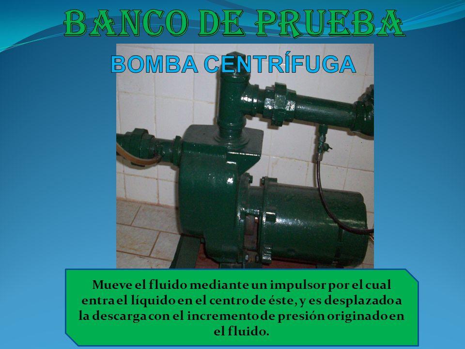 Banco de prueba BOMBA CENTRÍFUGA