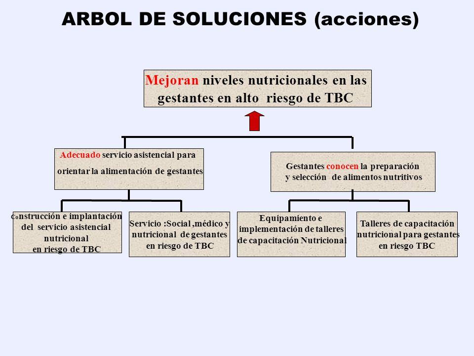 ARBOL DE SOLUCIONES (acciones)