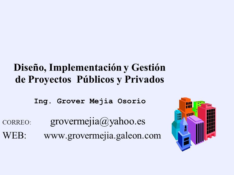 Diseño, Implementación y Gestión de Proyectos Públicos y Privados Ing