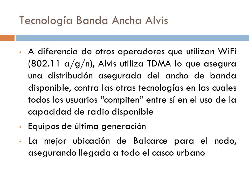 Tecnología Banda Ancha Alvis