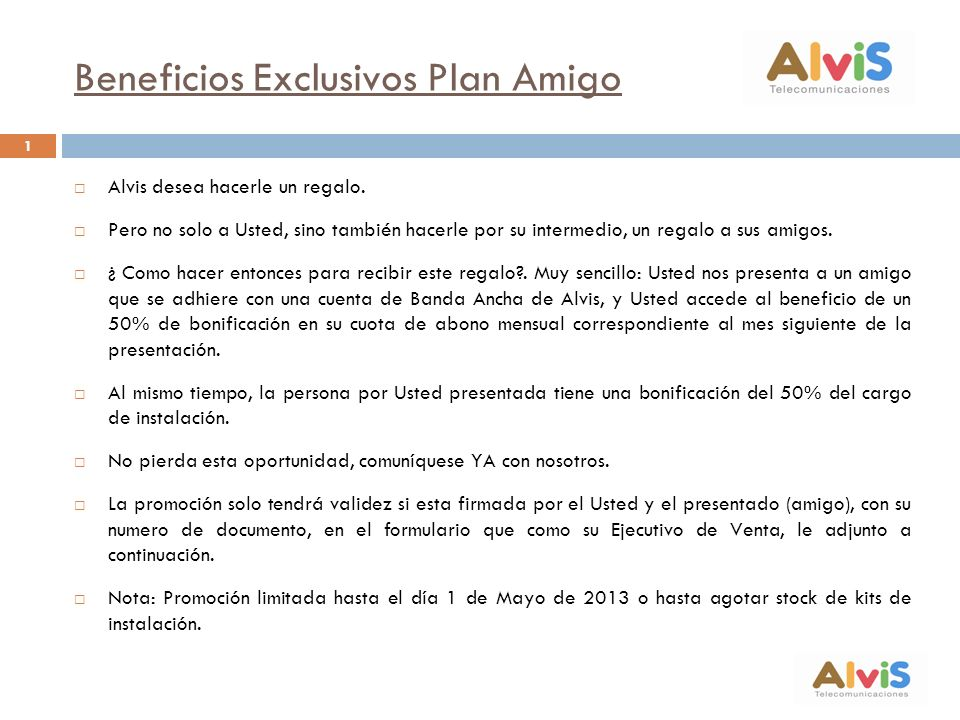 Beneficios Exclusivos Plan Amigo
