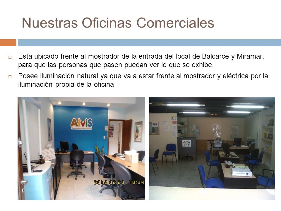 Nuestras Oficinas Comerciales