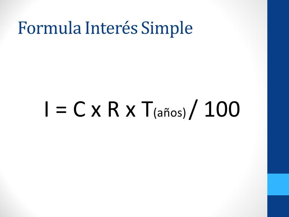 Formula Interés Simple