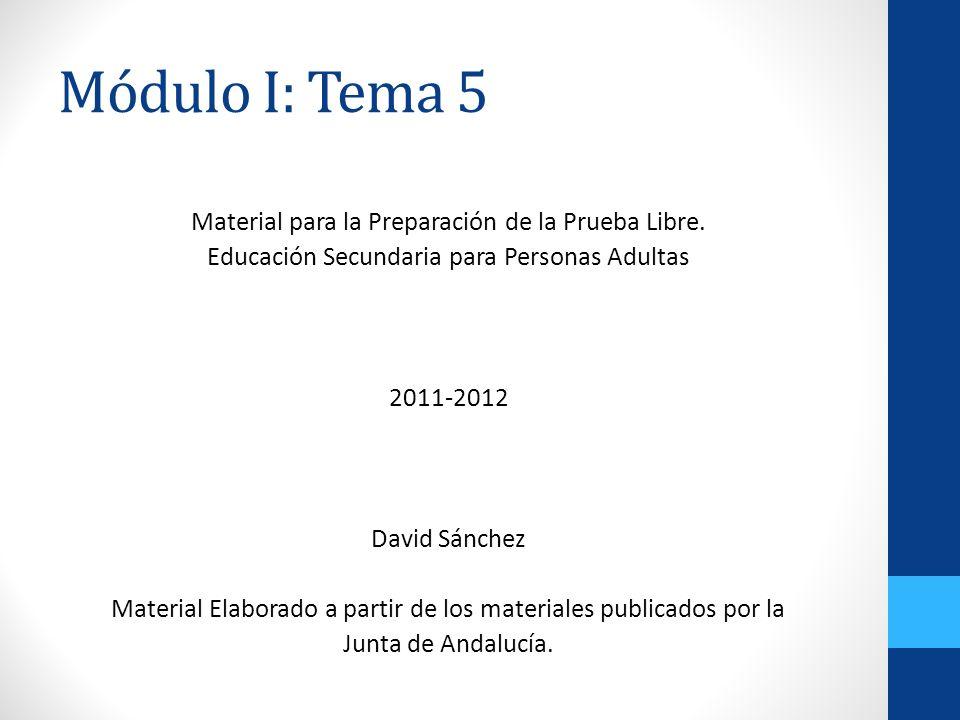 Módulo I: Tema 5