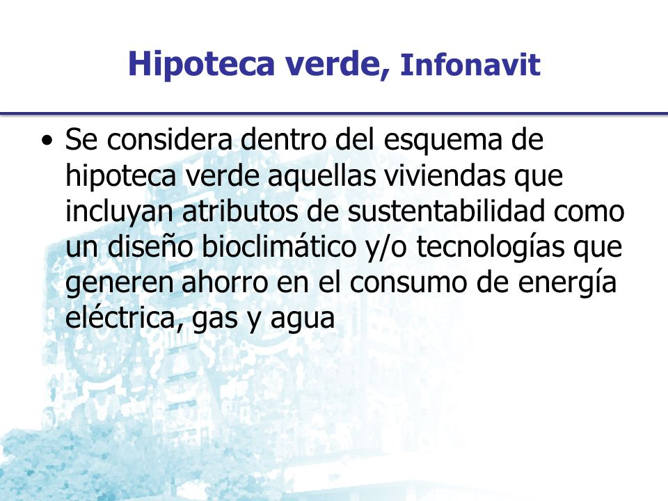 Hipoteca verde, Infonavit