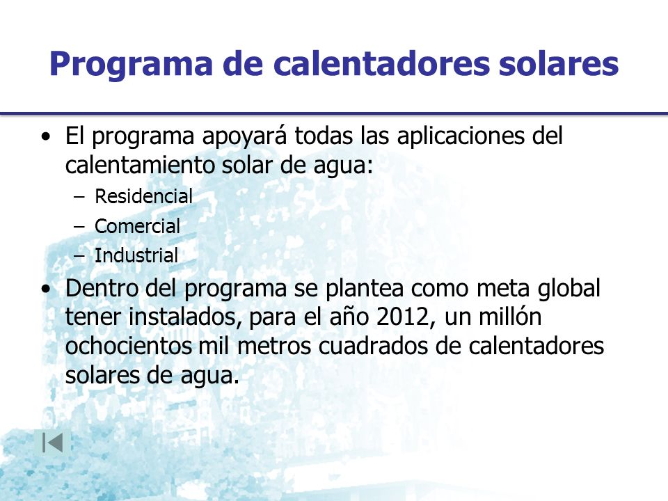 Programa de calentadores solares