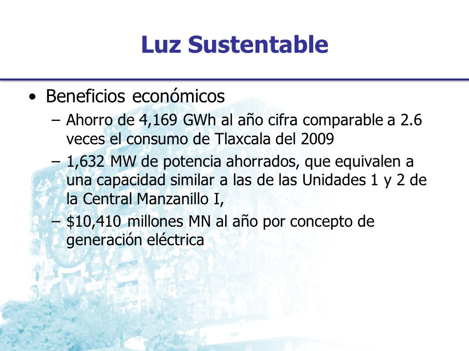 Luz Sustentable Beneficios económicos