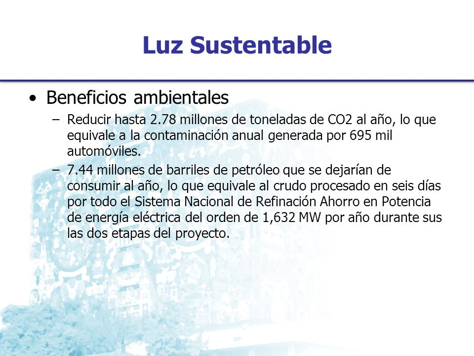 Luz Sustentable Beneficios ambientales
