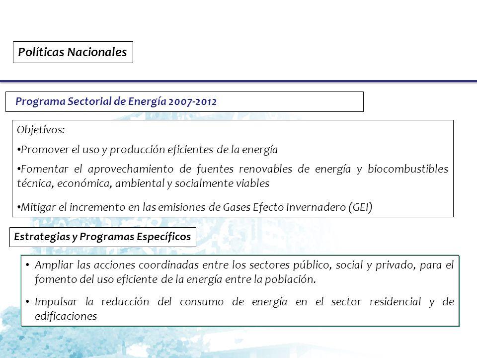 Políticas Nacionales Programa Sectorial de Energía 2007-2012
