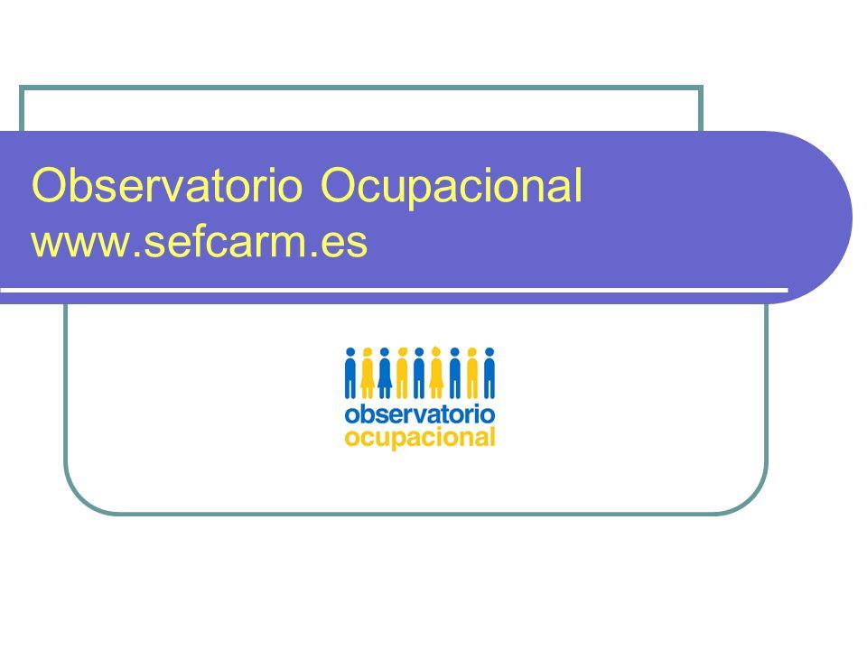Observatorio Ocupacional www.sefcarm.es