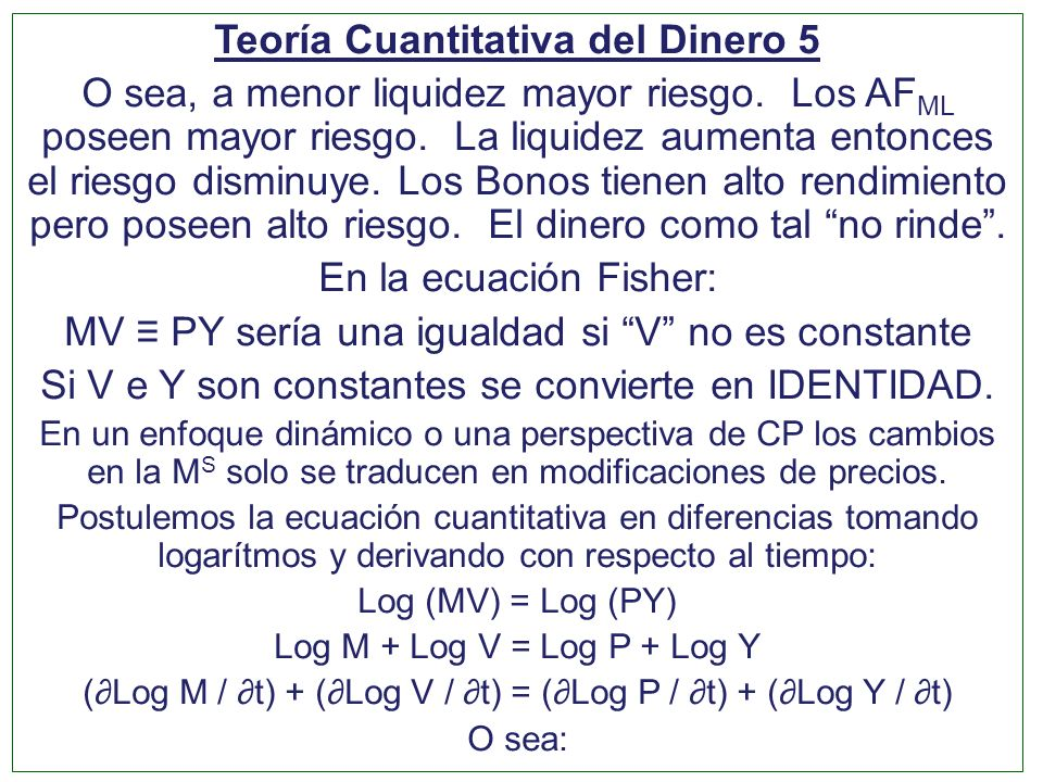 Teoría Cuantitativa del Dinero 5