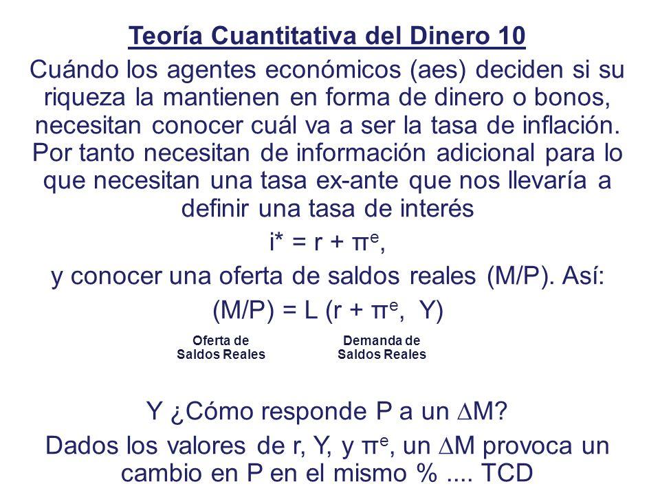 Teoría Cuantitativa del Dinero 10