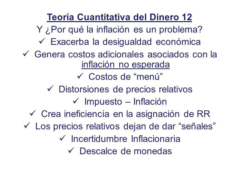 Teoría Cuantitativa del Dinero 12