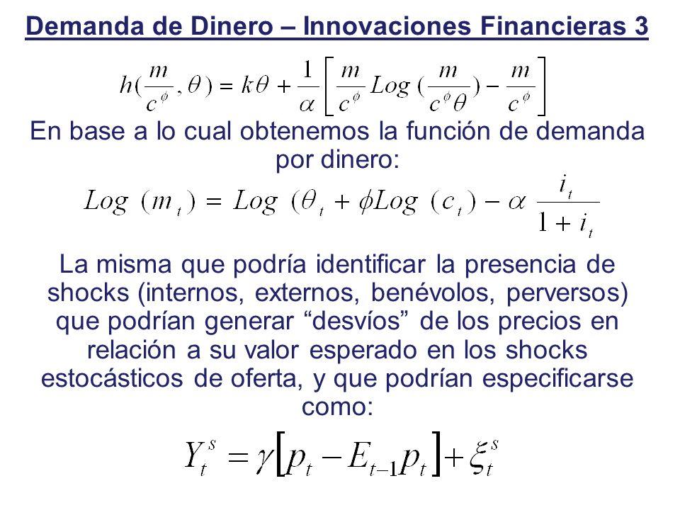 Demanda de Dinero – Innovaciones Financieras 3