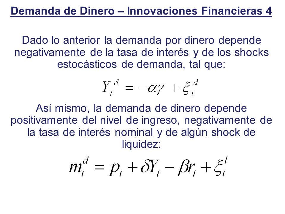 Demanda de Dinero – Innovaciones Financieras 4