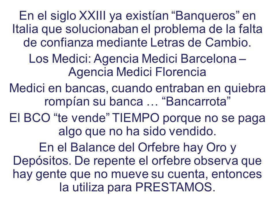 Los Medici: Agencia Medici Barcelona – Agencia Medici Florencia