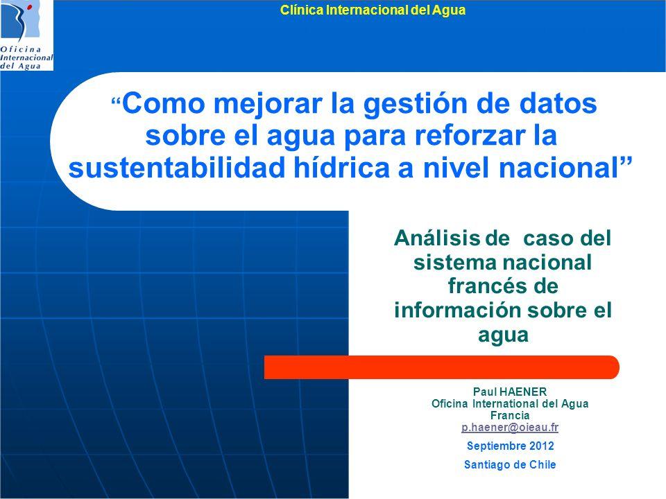 Clínica Internacional del Agua Oficina International del Agua
