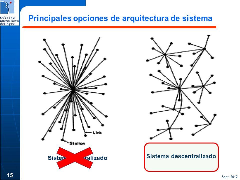 Principales opciones de arquitectura de sistema