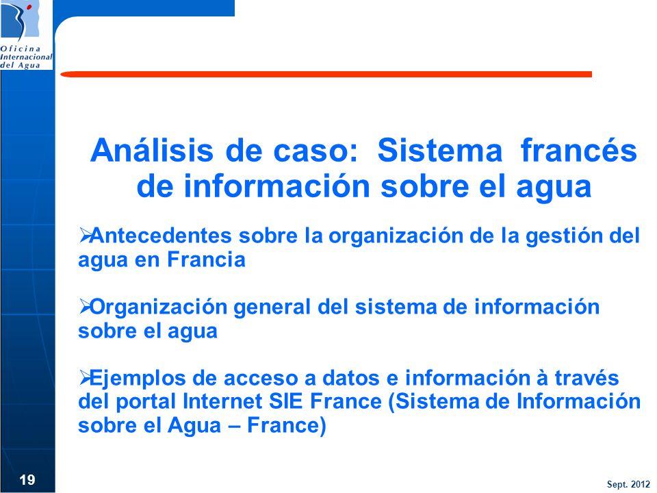 Análisis de caso: Sistema francés de información sobre el agua