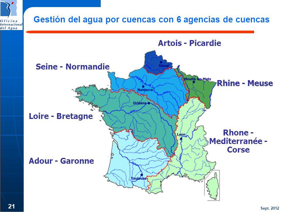 Gestión del agua por cuencas con 6 agencias de cuencas