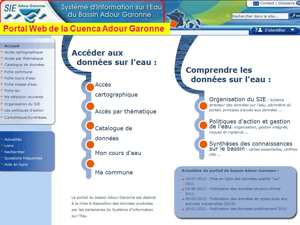 Portal Web de la Cuenca Adour Garonne