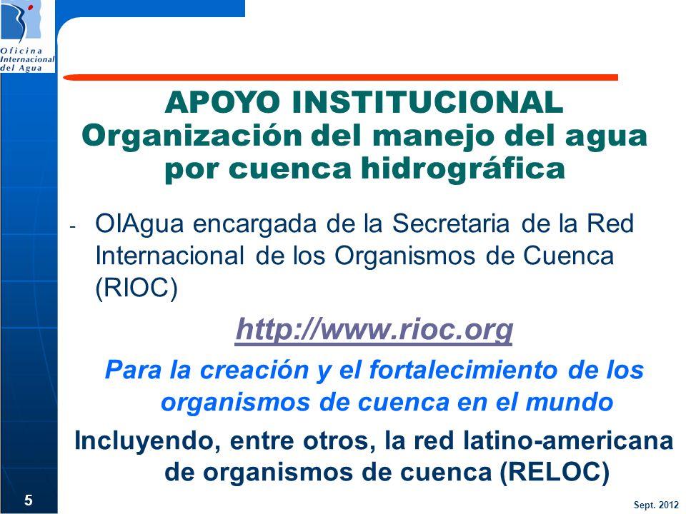 Organización del manejo del agua por cuenca hidrográfica