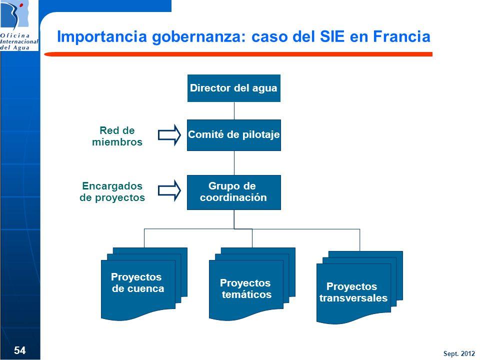 Importancia gobernanza: caso del SIE en Francia