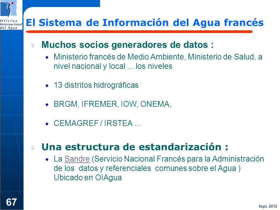 67 El Sistema de Información del Agua francés