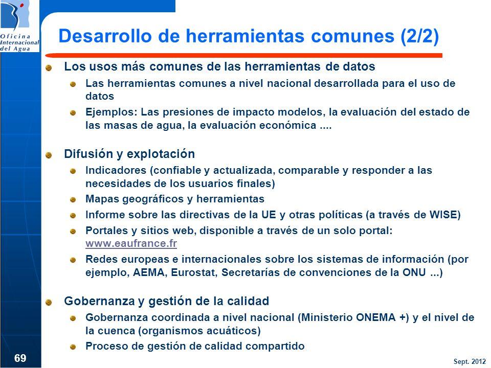 Desarrollo de herramientas comunes (2/2)