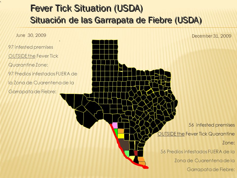 Fever Tick Situation (USDA)
