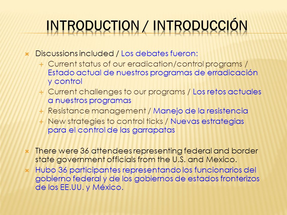 Introduction / Introducción
