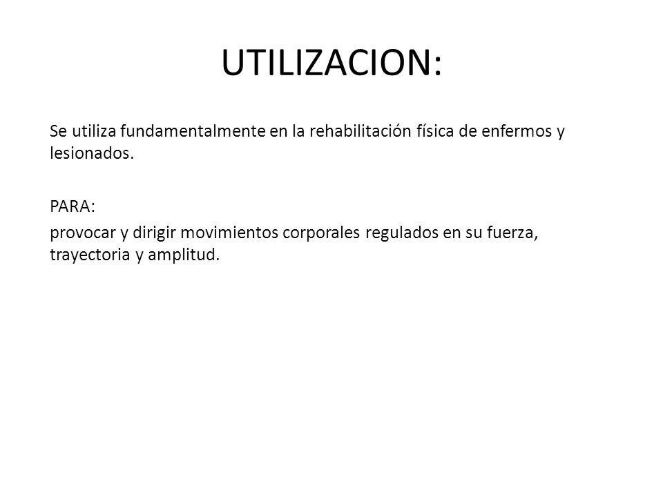 UTILIZACION: