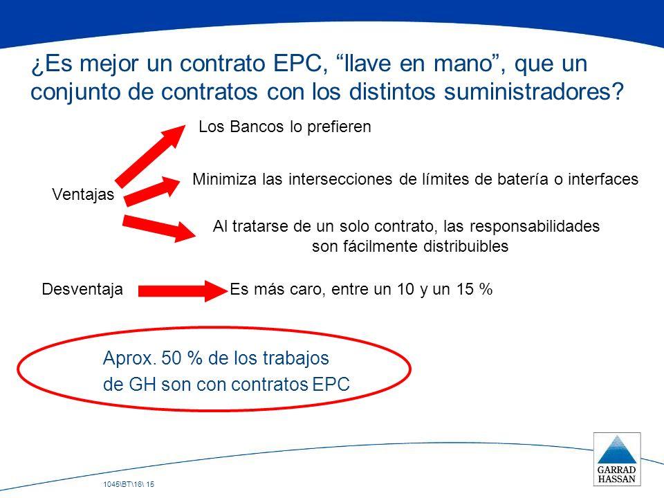 ¿Es mejor un contrato EPC, llave en mano , que un conjunto de contratos con los distintos suministradores