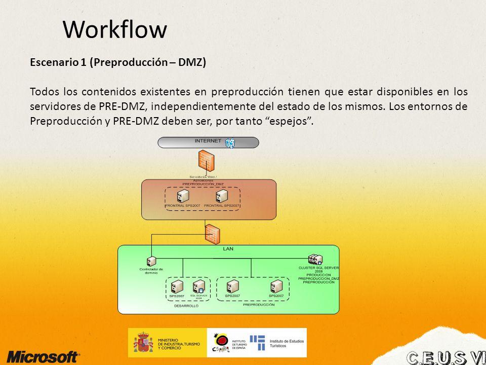 Workflow Escenario 1 (Preproducción – DMZ)