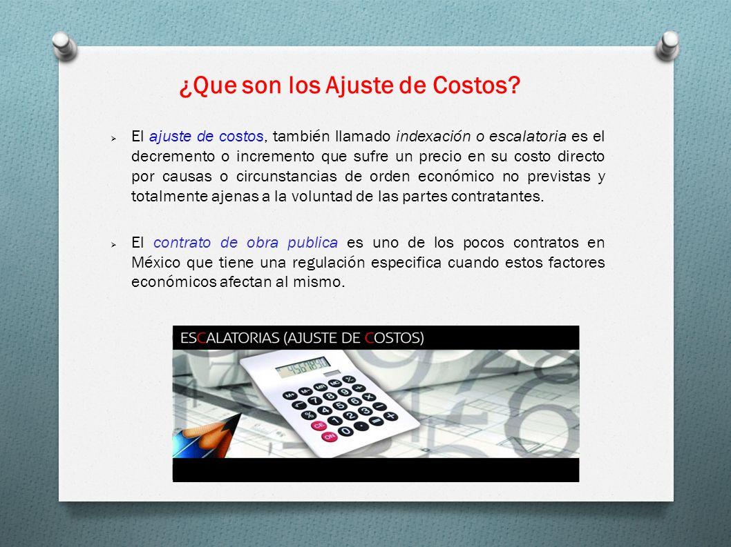 ¿Que son los Ajuste de Costos