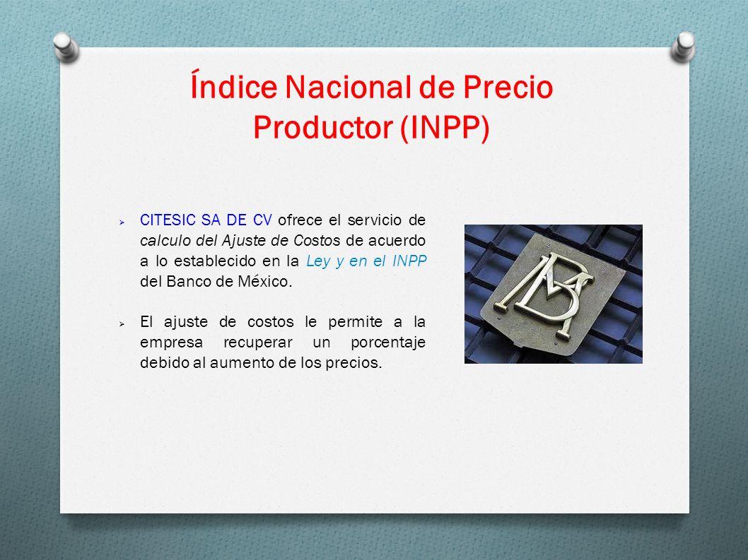 Índice Nacional de Precio Productor (INPP)