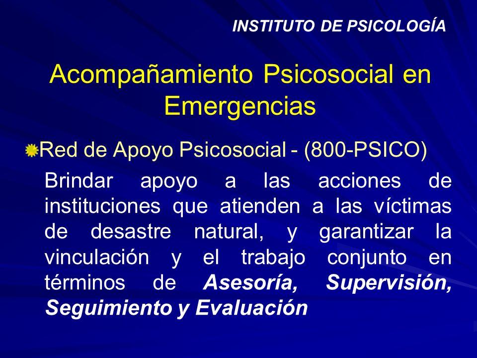Acompañamiento Psicosocial en Emergencias