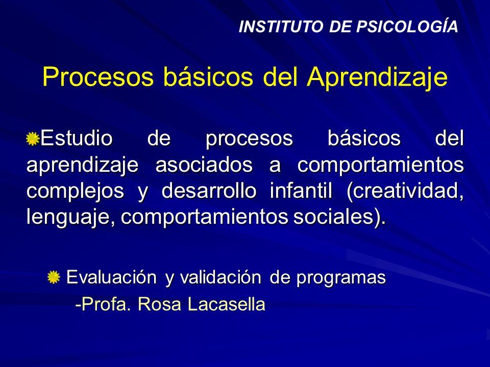 Procesos básicos del Aprendizaje