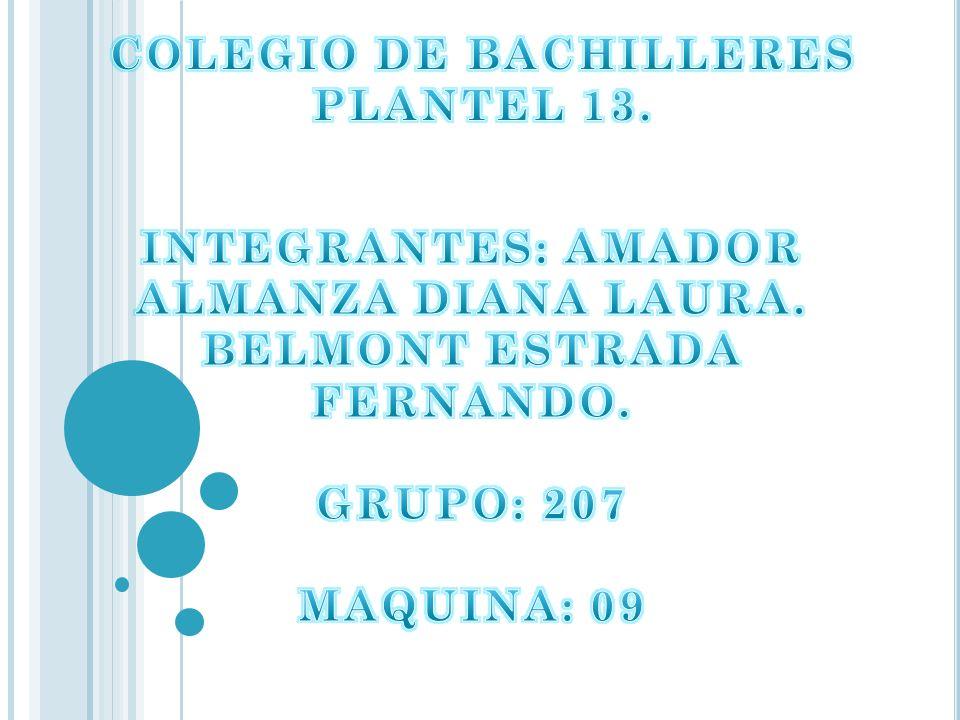 COLEGIO DE BACHILLERES PLANTEL 13.