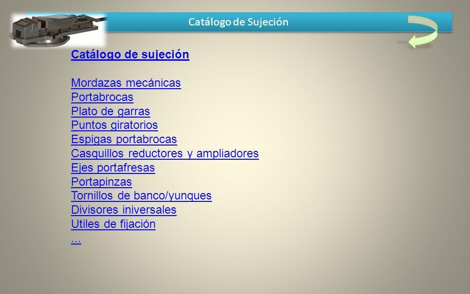 Catálogo de Sujeción Catálogo de sujeción.