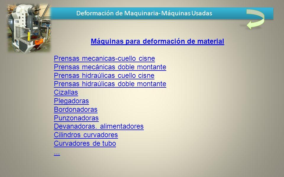 Máquinas para deformación de material