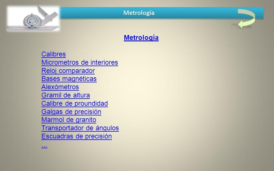 Metrología Metrología.