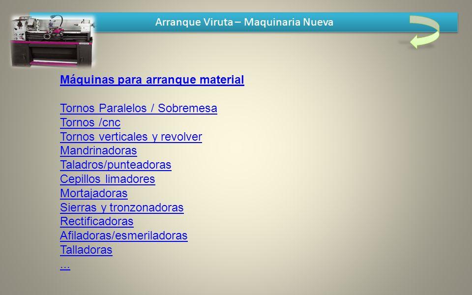 Arranque Viruta – Maquinaria Nueva