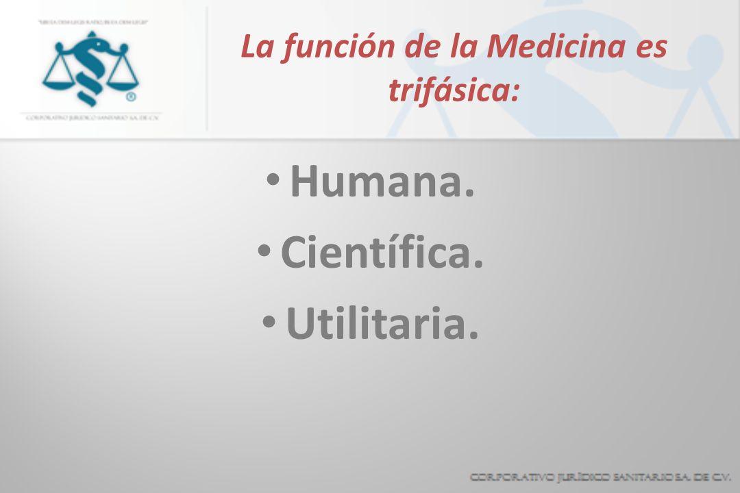 La función de la Medicina es trifásica:
