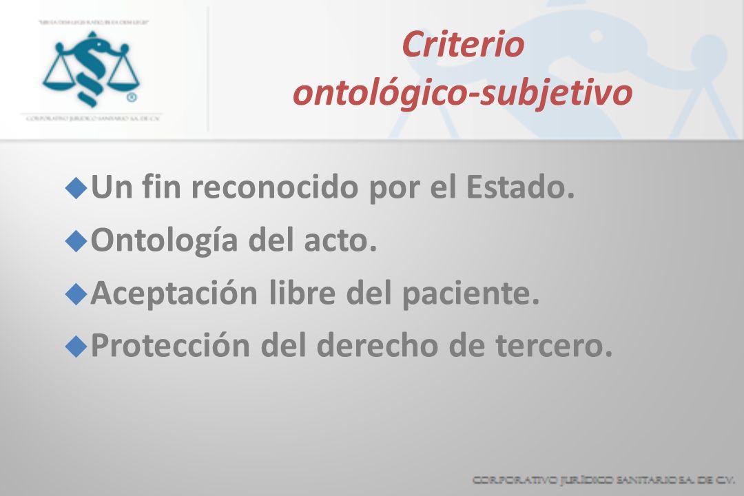 Criterio ontológico-subjetivo
