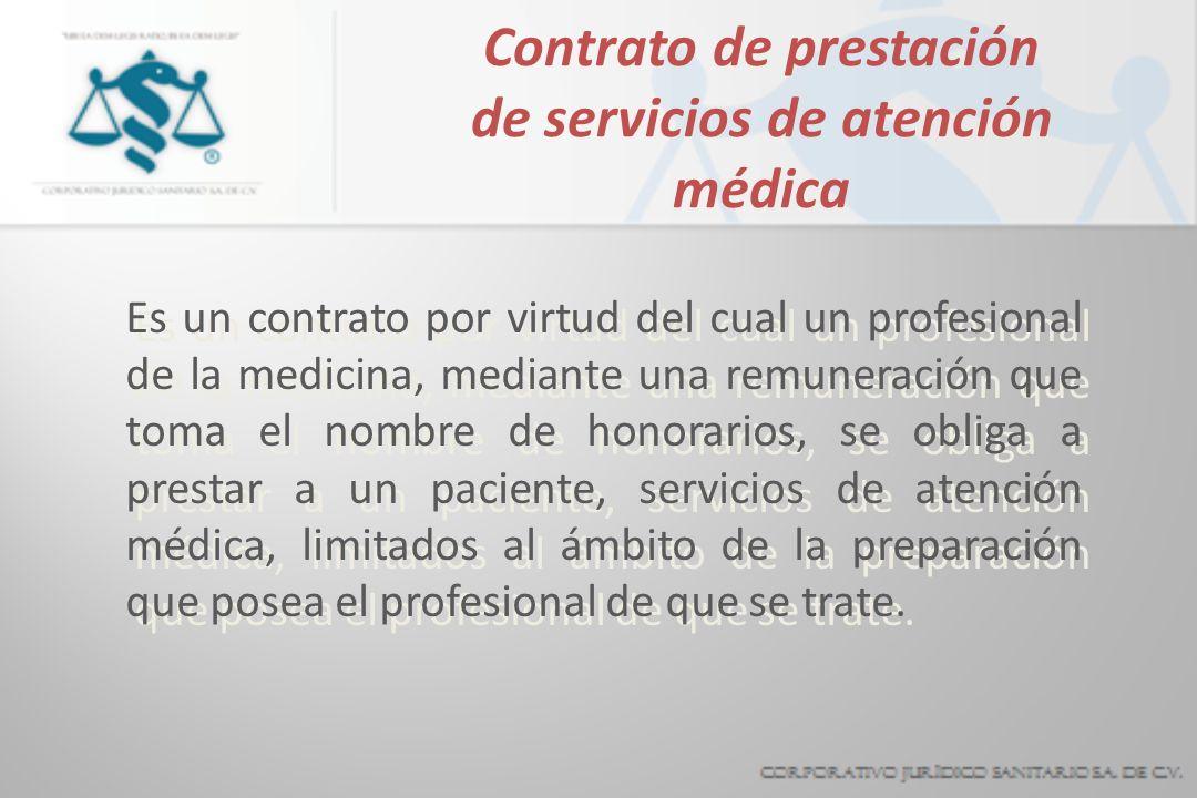 Contrato de prestación de servicios de atención médica