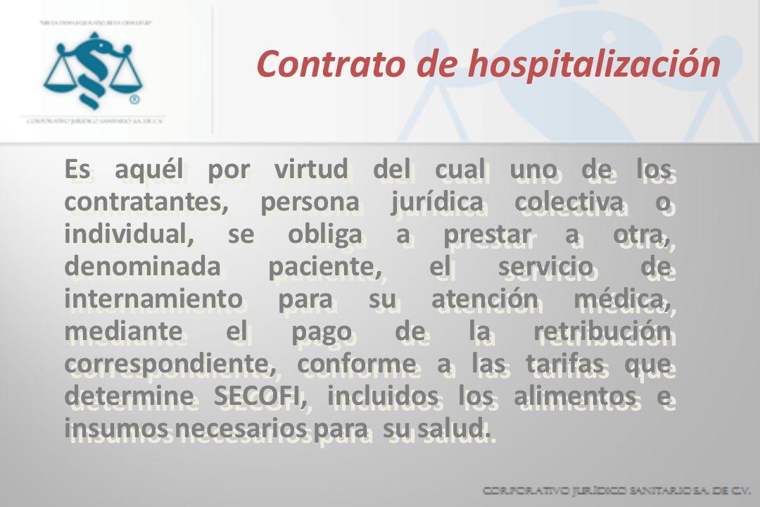 Contrato de hospitalización