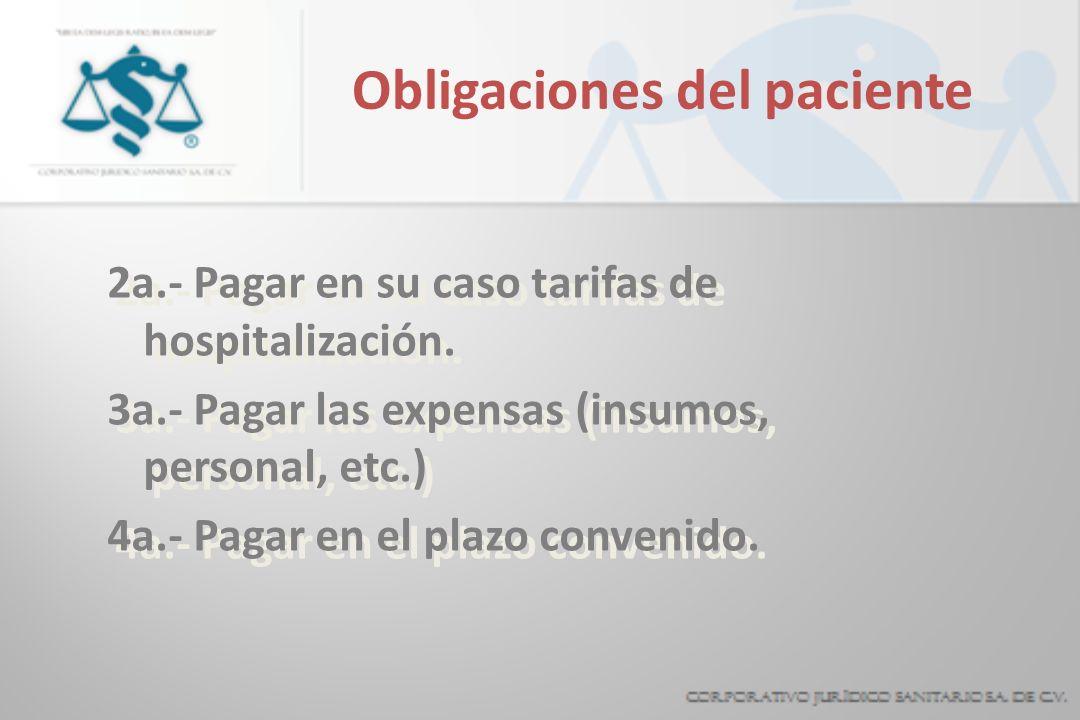 Obligaciones del paciente