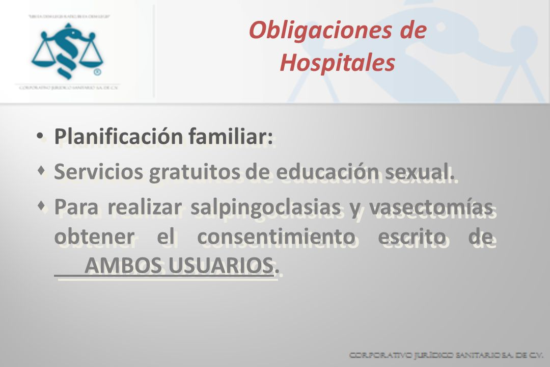 Obligaciones de Hospitales