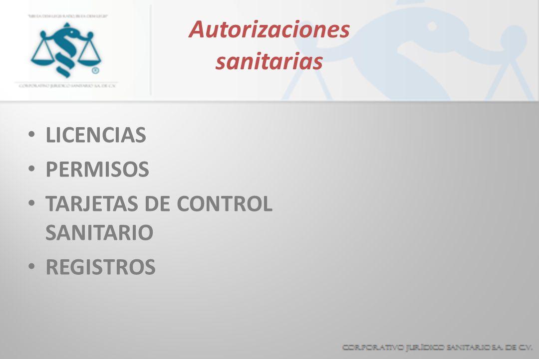 Autorizaciones sanitarias